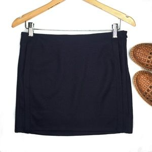 Diane Von Furstenberg Wool Side Pockets Mini Skirt